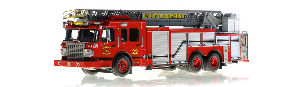 Detroit Ladder 22 scale model is museum grade