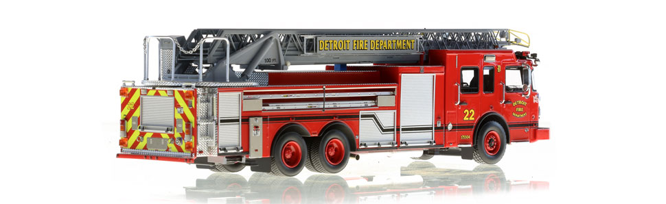 Detroit Fire Department Ladder 22 consists of over 710 parts.