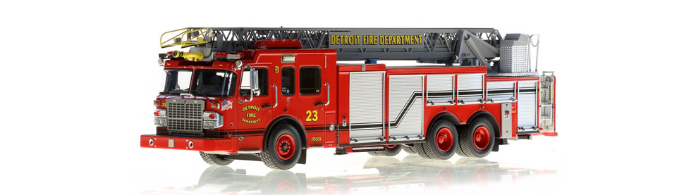 Detroit Ladder 23 scale model is museum grade