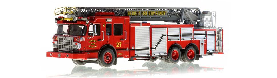 Detroit Ladder 27 scale model is museum grade
