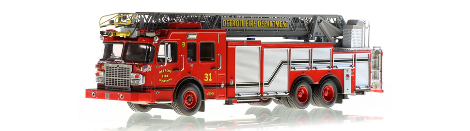 Detroit Ladder 31 scale model is museum grade