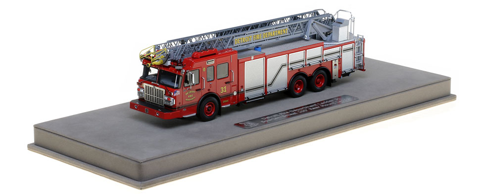 Detroit Ladder 31 includes a fully custom display case.