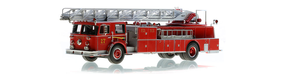 FDNY Ladder 27-2 scale model is limited to 125 units.