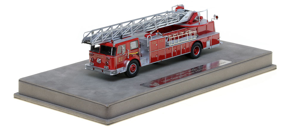 FDNY Ladder 27-2 scale model is hand-crafted.