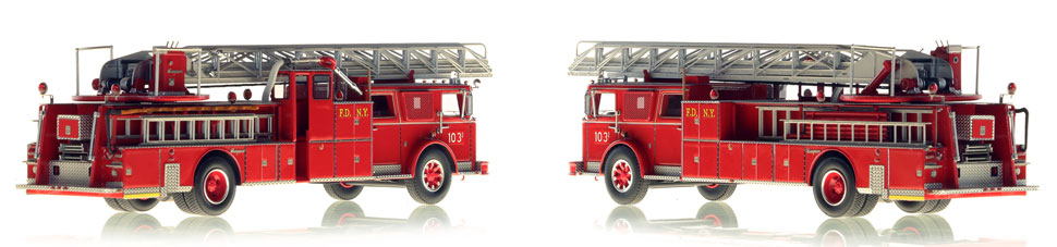 Brooklyn's 1974 Seagrave Phone Booth ladder scale model