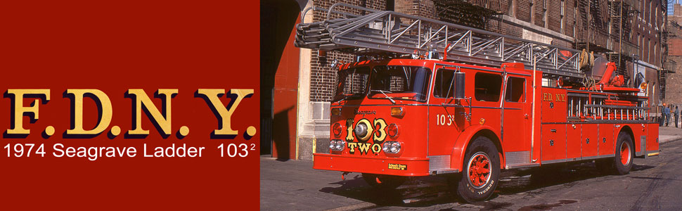 FDNY 1974 Seagrave Phone Booth 100' Ladder