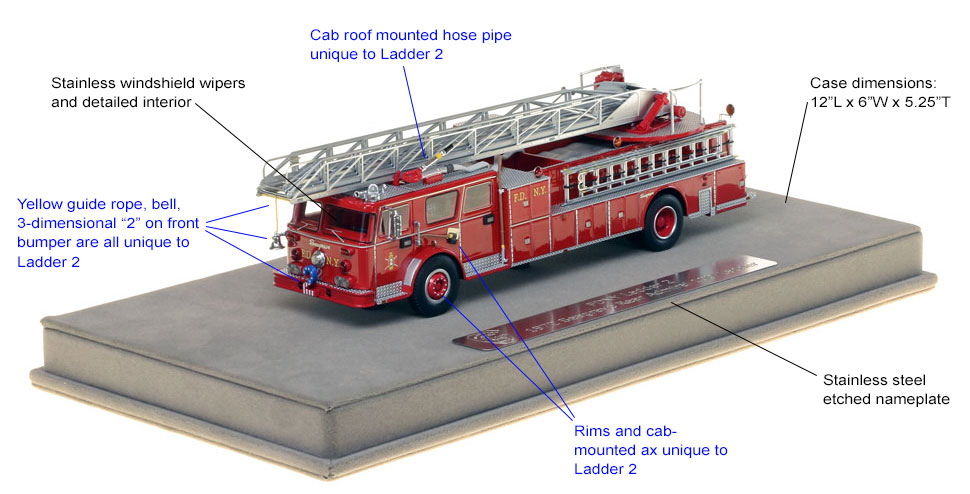 Features and specs of FDNY Ladder 2