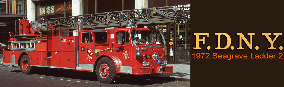 FDNY 1972 Seagrave Phone Booth 100' Ladder