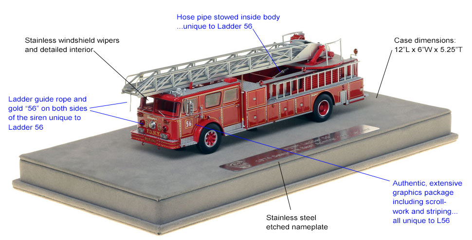 Features and specs of FDNY Ladder 56