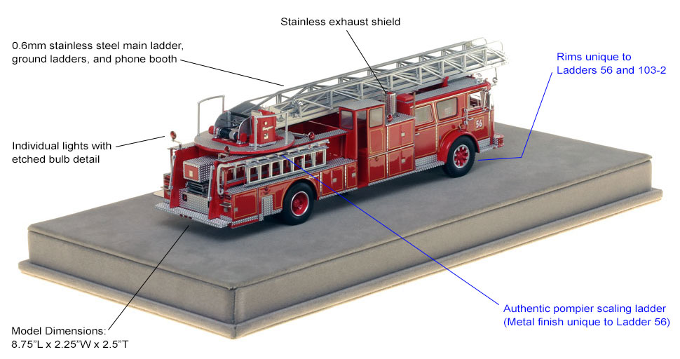 Features and specs of Ladder 56 from the Bronx