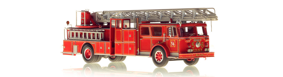 1:50 scale FDNY 1974 Seagrave Ladder 56 model