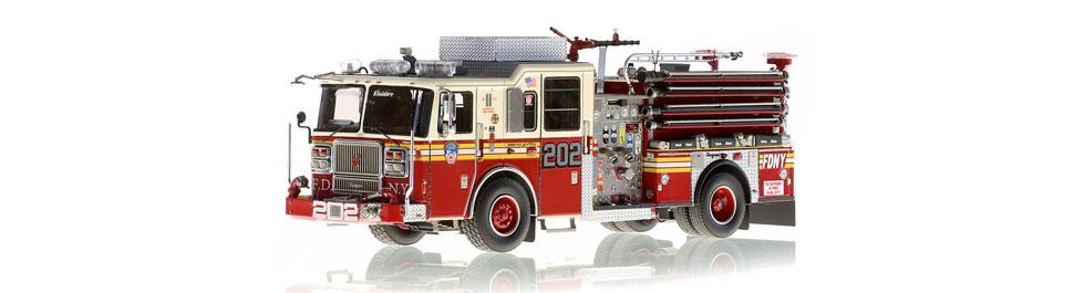 FDNY Engine 202 replica features razor sharp accuracy
