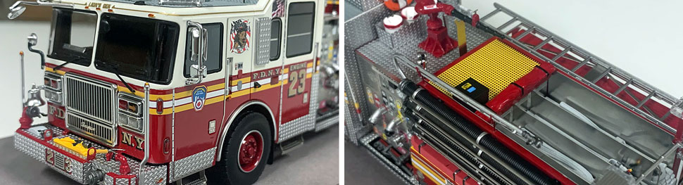 FDNY Seagrave Engine 23 close up pictures 9-10