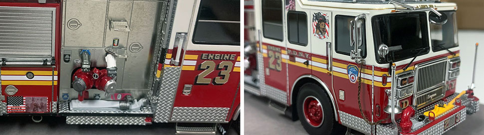 FDNY Seagrave Engine 23 close up pictures 7-8