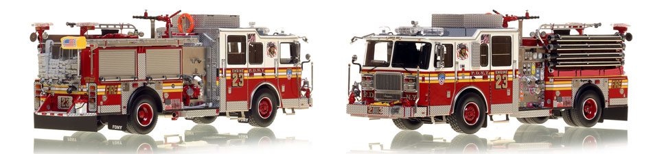 Manhattan's FDNY Engine 23 is a museum grade 1:50 scale model