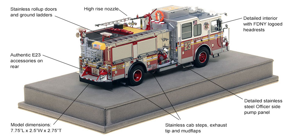 Specs and Features of FDNY Engine 23 scale model
