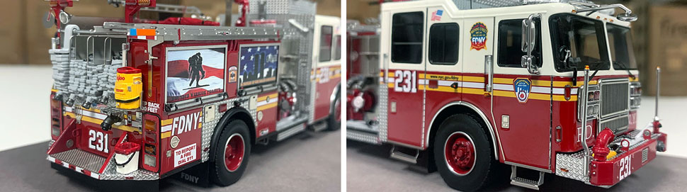 FDNY Seagrave Engine 231 close up pictures 5-6
