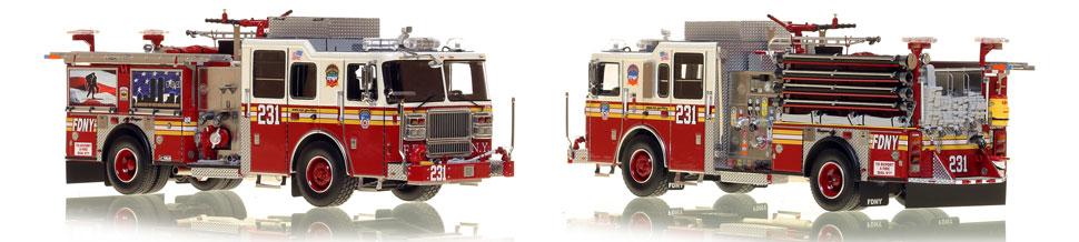 Brooklyn's FDNY Engine 231 is a museum grade 1:50 scale model