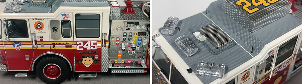 FDNY Seagrave Engine 245 close up pictures 7-8