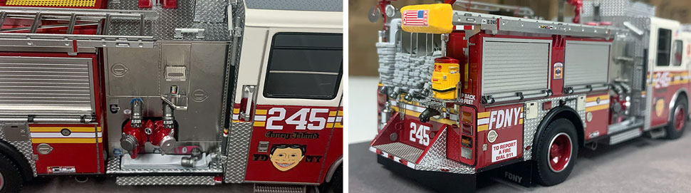 FDNY Seagrave Engine 245 close up pictures 11-12