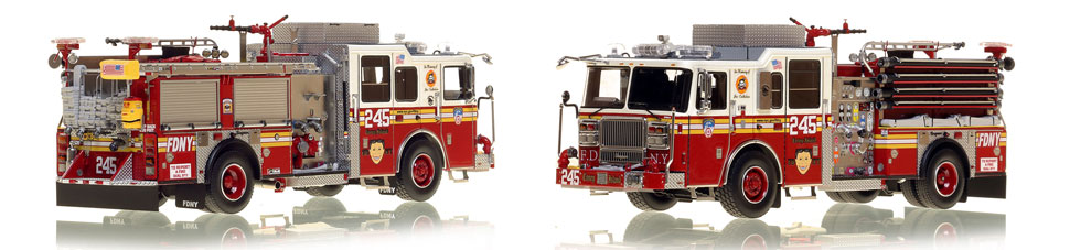 Brooklyn's FDNY Engine 245 is a museum grade 1:50 scale model
