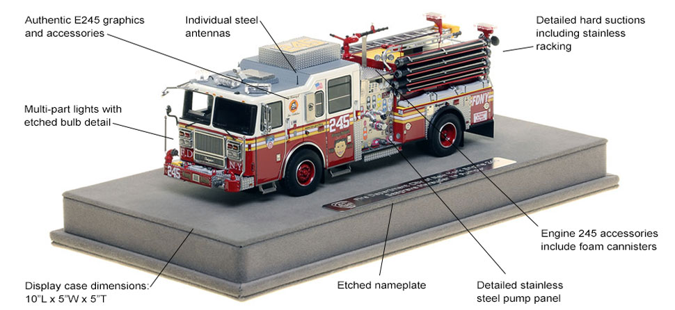 Features and Specs of FDNY's Seagrave Engine 245 scale model