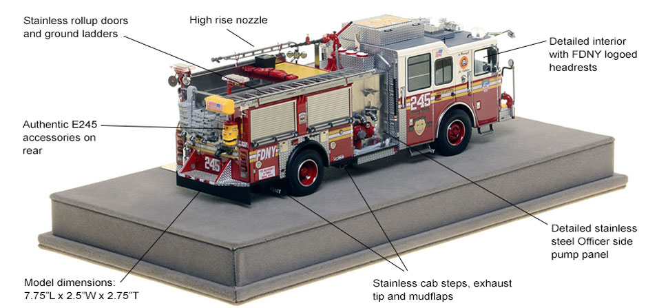 Specs and Features of FDNY's Seagrave Engine 245 scale model