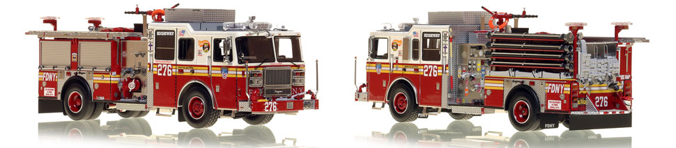 Brooklyn's FDNY Engine 276 is a museum grade 1:50 scale model