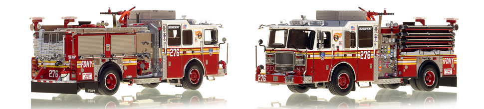 FDNY's Engine 276 scale model is hand-crafted and intricately detailed.