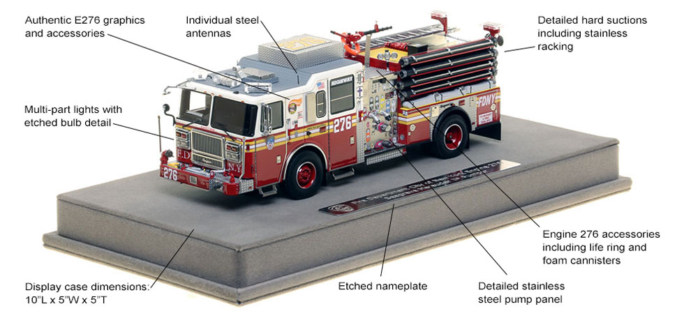 Features and Specs of FDNY's Seagrave Engine 276 scale model