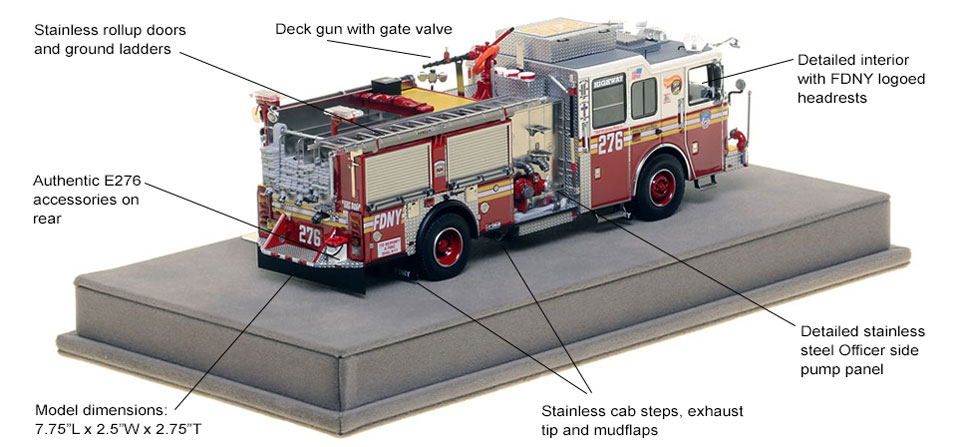 Specs and Features of FDNY's Seagrave Engine 276 scale model