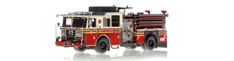 FDNY Engine 43 replica features razor sharp accuracy