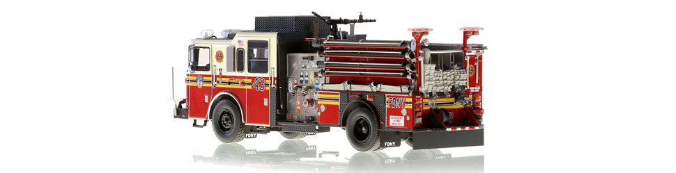 FDNY Engine 43 is hand-crafted using over 505 parts.
