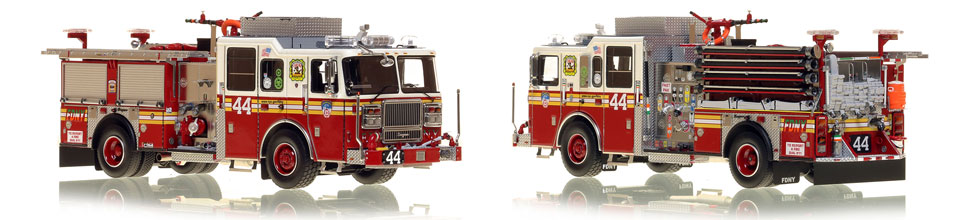 Manhattan's FDNY Engine 44 is a museum grade 1:50 scale model