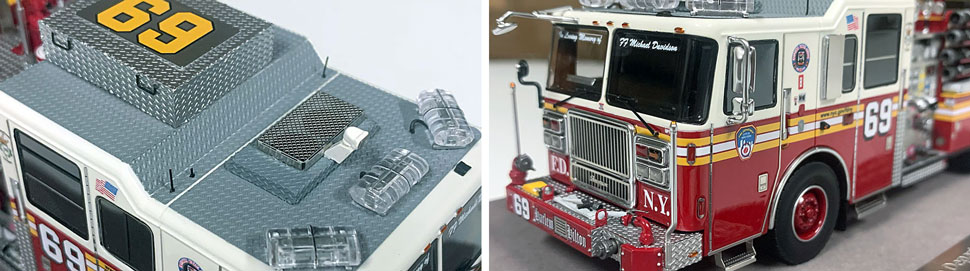 FDNY Seagrave Engine 69 close up pictures 9-10