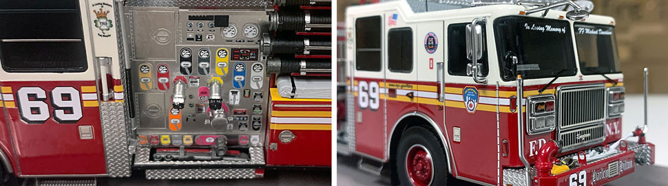FDNY Seagrave Engine 69 close up pictures 11-12