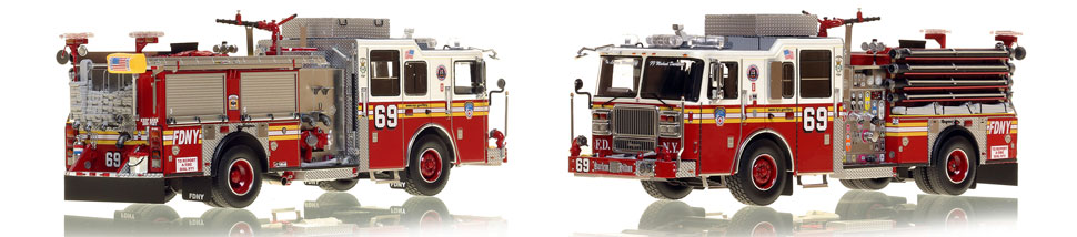Manhattan's FDNY Engine 69 is a museum grade 1:50 scale model