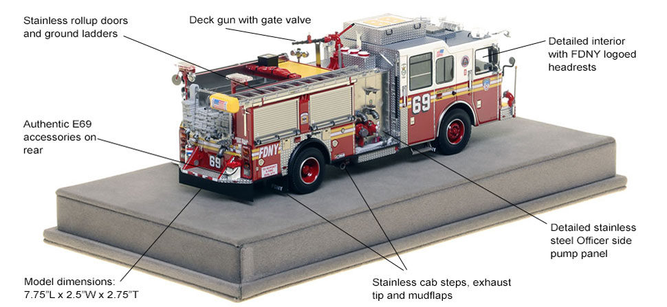 Specs and Features of FDNY Engine 69 scale model