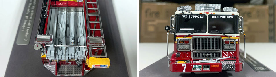Closeup pictures 1-2 of the FDNY Engine 7 scale model