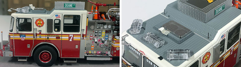 Closeup pictures 5-6 of the FDNY Engine 7 scale model