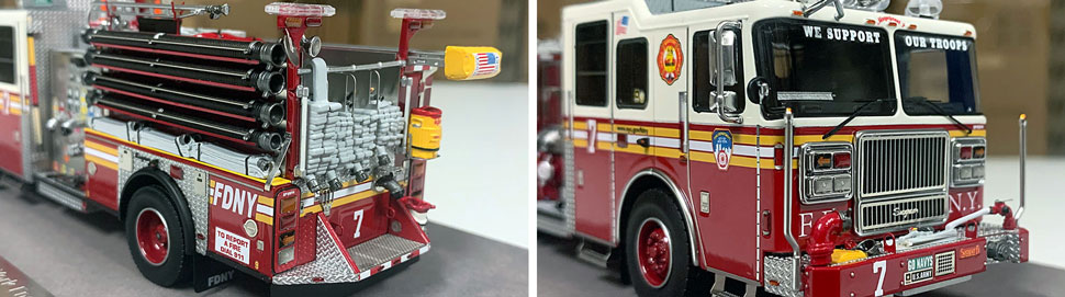Closeup pictures 7-8 of the FDNY Engine 7 scale model