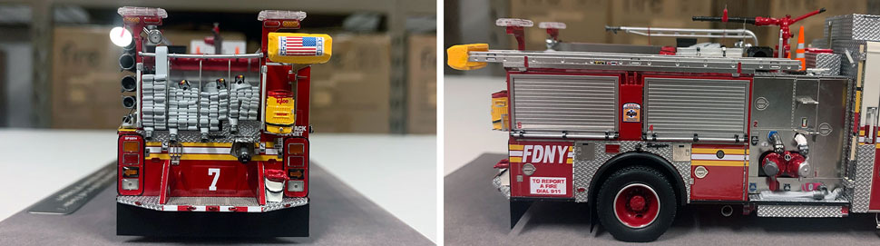 Closeup pictures 9-10 of the FDNY Engine 7 scale model