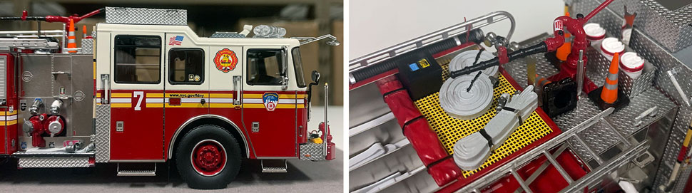 Closeup pictures 13-14 of the FDNY Engine 7 scale model