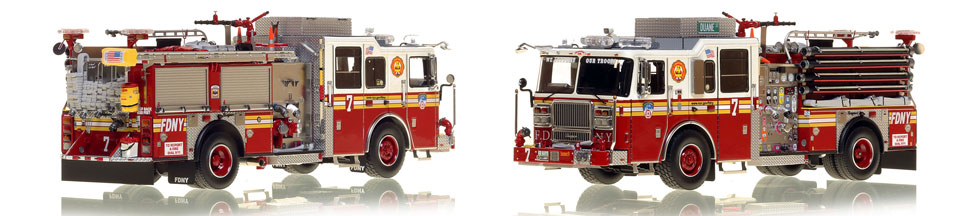 The first museum grade scale model of Manhattan's Engine 7