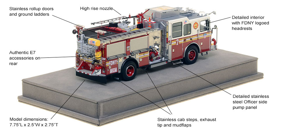 Specs and Features of FDNY Engine 7 scale model