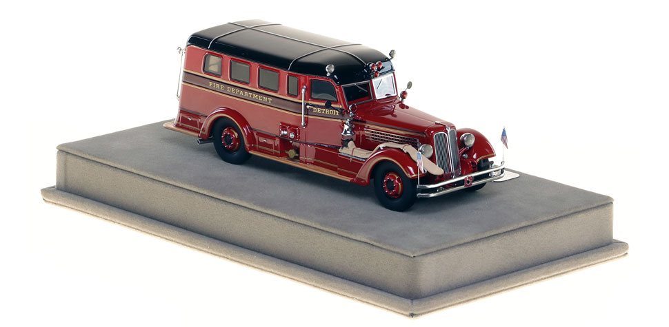Order your Detroit Memorial Rig Safety Sedan today!