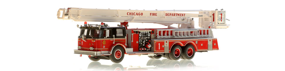 Chicago Fire Department 1982 Seagrave/Pierce Snorkel 1 is a hand-crafted replica