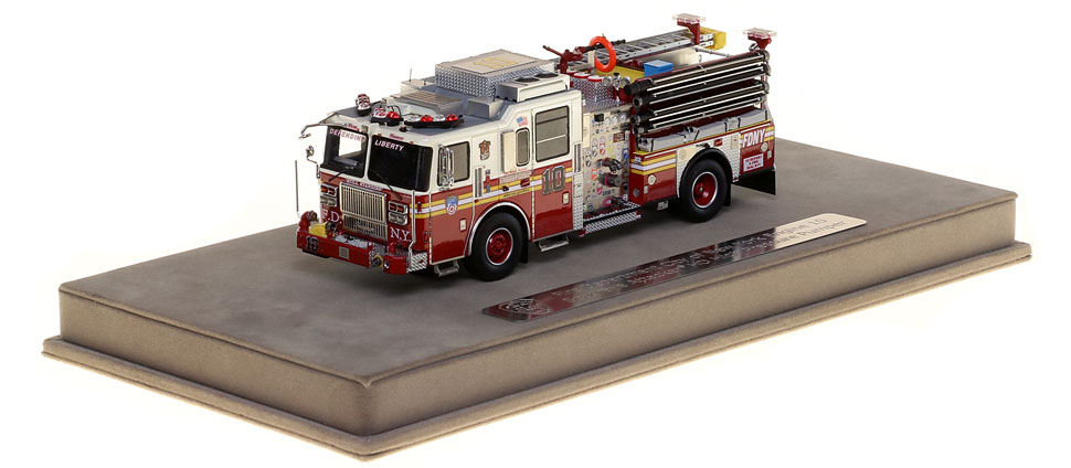FDNY Engine 10 includes a fully custom display case.