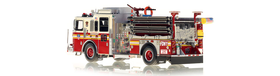 FDNY Engine 10 is hand-crafted using over 510 parts.