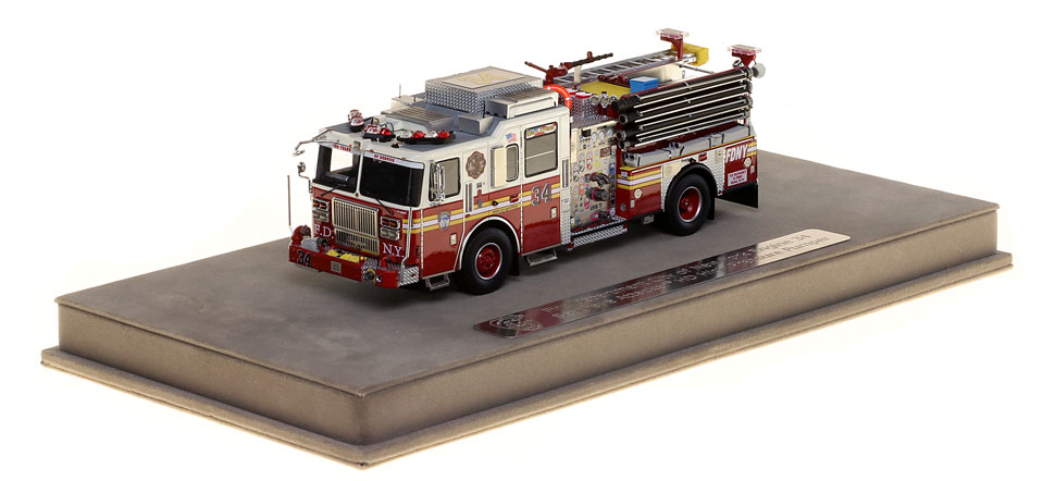FDNY Engine 34 includes a fully custom display case.